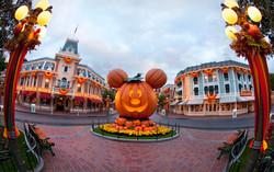 Massive Pumpkin on Main Street U.S.A