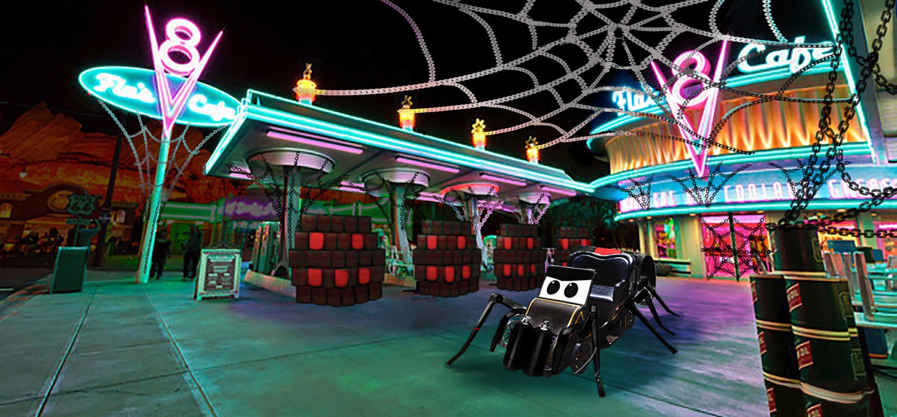 Spider Car spins her web at Flo's
