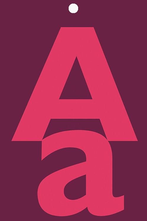 Alphabet Gift Tag A-K