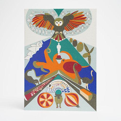 Alphabet O Card