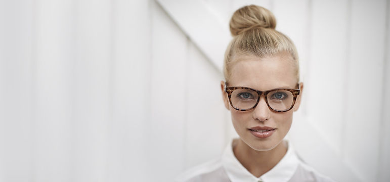 Woman Wearing Eye Glasses