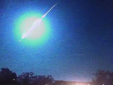 Meteoro explode sobre fronteira do Rio Grande com o Uruguai