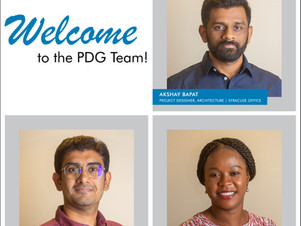 PDG welcomes three new employees to our Buildings Division!