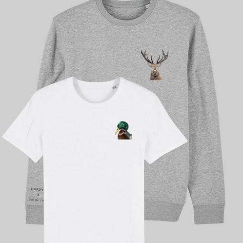 Combo sweater deer & T-shirt duck