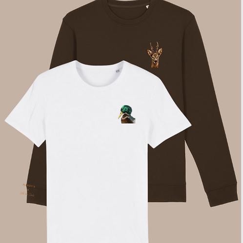 Combo sweater roebuck & T-shirt duck