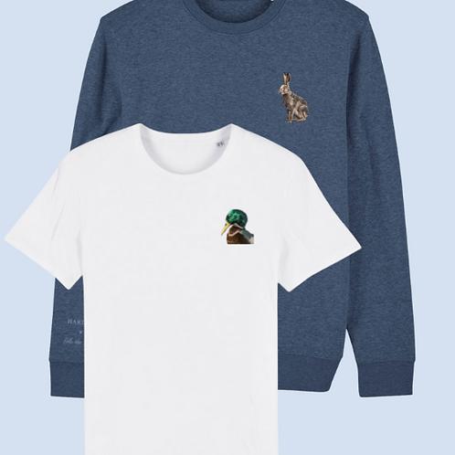 Combo sweater hare & T-shirt duck
