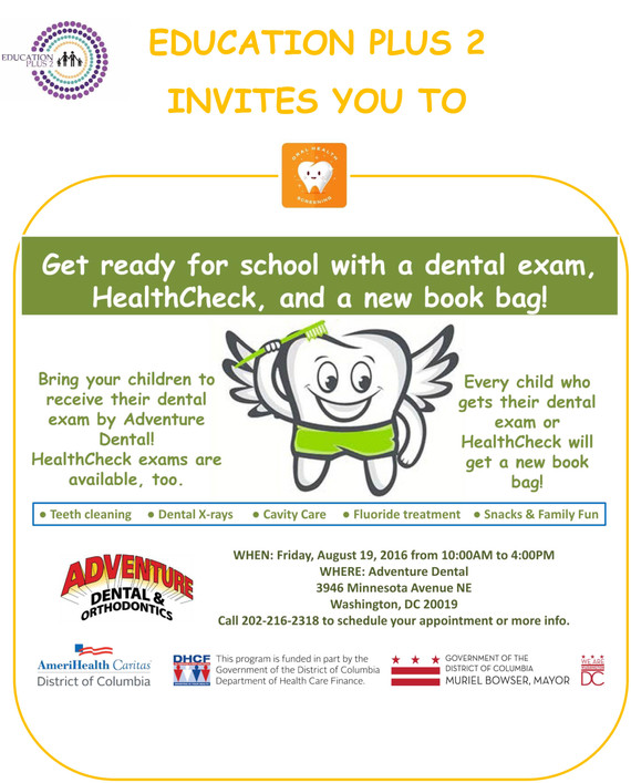 Adventure Dental  Health Check and  Back to School Event