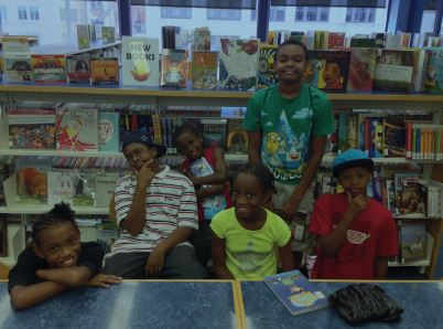 Campers at the Library