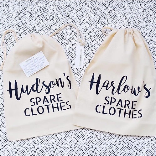 Personalised Spare Clothes Bag