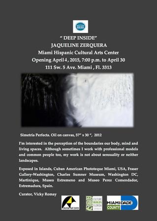 "Art Gallery, Jaqueline Zerquera with ""Deep Inside"""