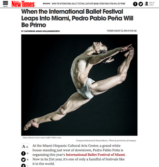 PRESS: XXI International Ballet Festival of Miami