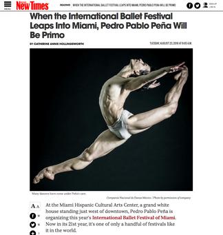 PRESS: XXI International Ballet Festival of Miami