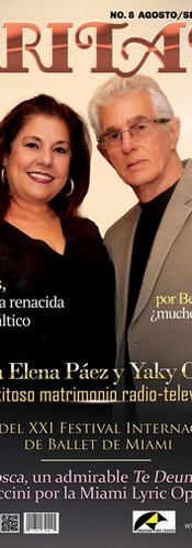 Creation Art Center and the Miami Hispanic Cultural Arts Center, are pleased to invite you to the presentation of the August / September 2016 CARITATE magazine with Yaky Ortega and María Elena Páez in Cover, and a broad dossier Dedicated to the recently concluded XXI Miami International Ballet Festival, as well as an interview with singer-songwriter Osvaldo Rodríguez for his 50 years of artistic life, among other topics of interest that appear in this edition.