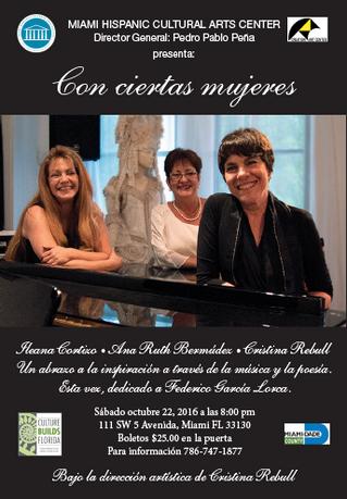 "Concert: ""Con Ciertas Mujeres"" Cristina Rebull"