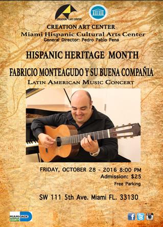 Hispanic Heritage Month: Latin American Music Concert
