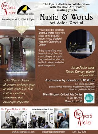 Music & Words Art Salon Recital