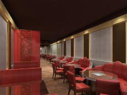 火鍋店視內商業空間3d設計3