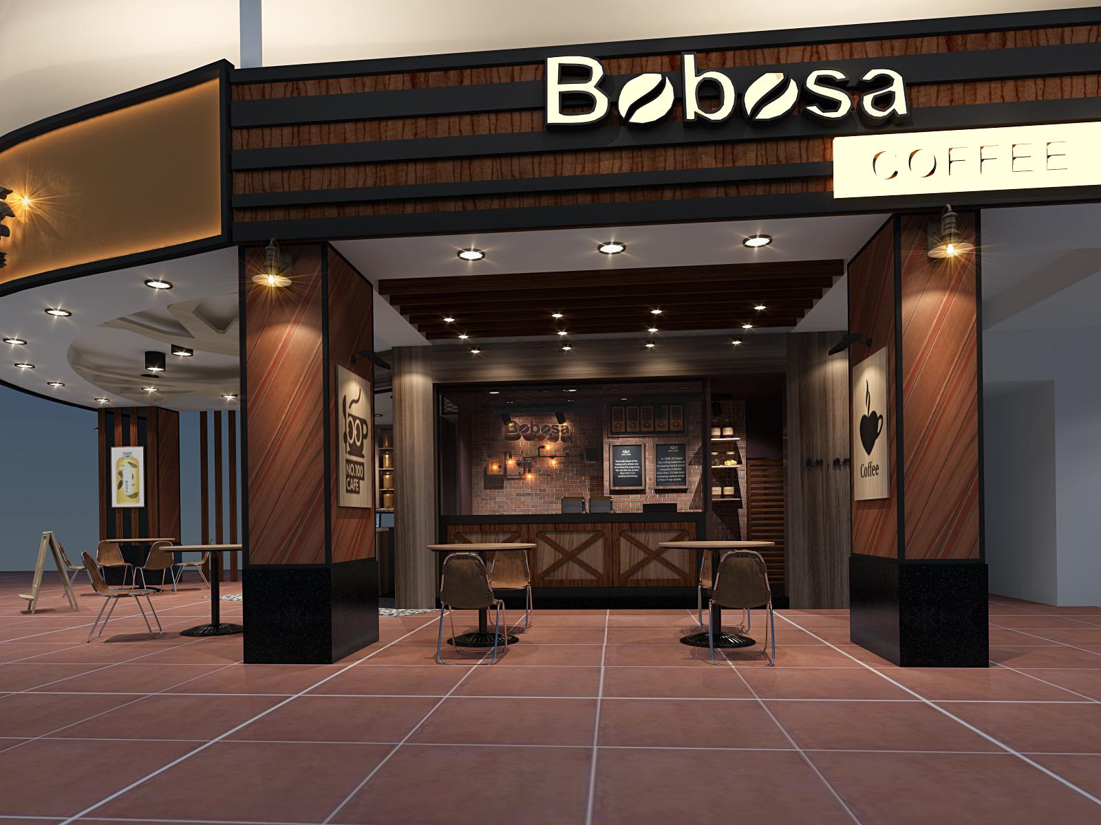 咖啡店空間室內3d設計
