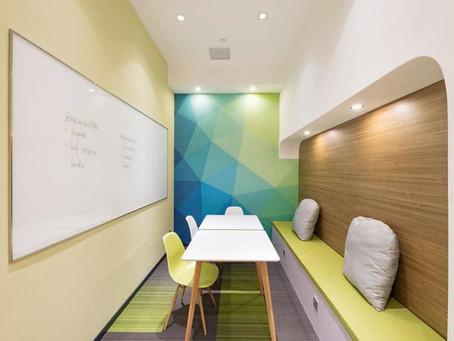 商業空間設計&3D代繪-英文培訓機構教室-- 國外精選效果圖與實景對比案例