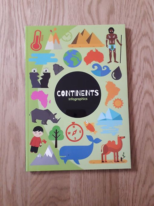 Continents Infographic