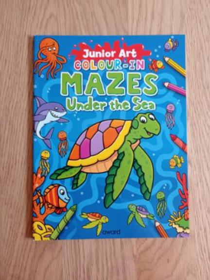 Colour In Mazes Under the Sea