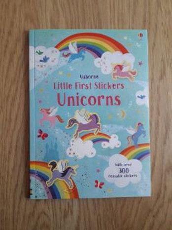 Usborne Little First Stickers Unicorns