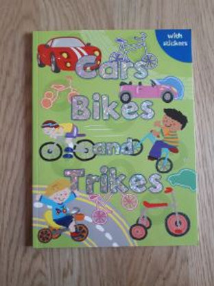 Cars Bikes and Trikes Sticker Book