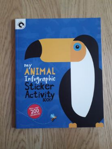 My Animal Infographic Activity Sticker Book