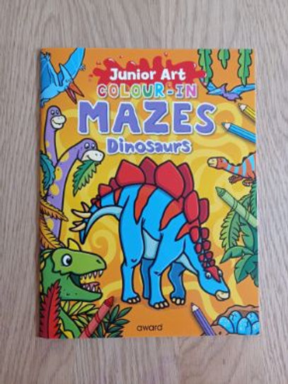 Colour-in Mazes Dinosaurs
