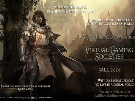 Anthropology 29003- Virtual Gaming Societies