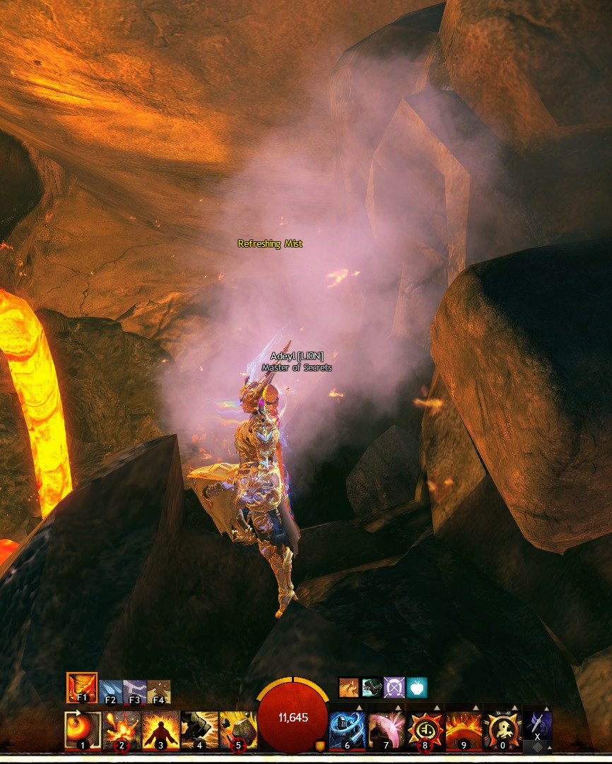 The refreshing mist serves as a check point in the puzzle. When a player dies, the avatar returns to the last refreshing mist visited.