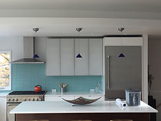 new lighting in remodeled kitchen by Ram electric
