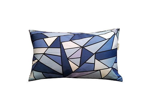 "Coussin ""Blue Triangles"" collection GEOMETRY"