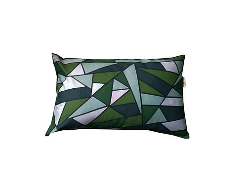 "Coussin ""Green Triangles"" collection GEOMETRY"