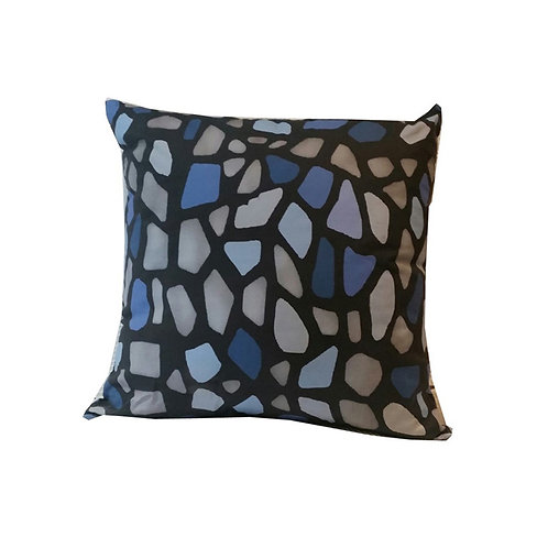 """Coussin """"Blue Leopard"""" Collection GEOMETRY"""