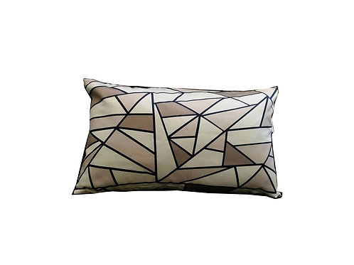 "Coussin ""Beige Triangles"" collection GEOMETRY"