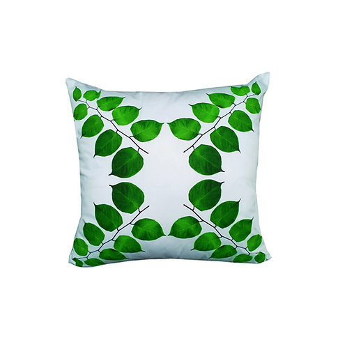 "Coussin ""Green Leaves"" Collection BLOOMY"