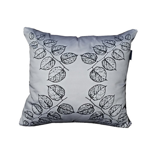 "Coussin ""Grey Leaves"" Collection BLOOMY"