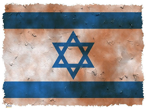 Israel Flag Sukkah Banner