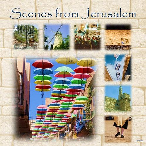 Jerusalem Scenes Sukkah Banner