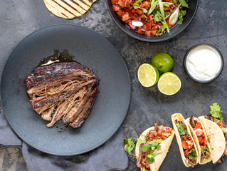 Skirt Beef Tacos with a Lime Salsa