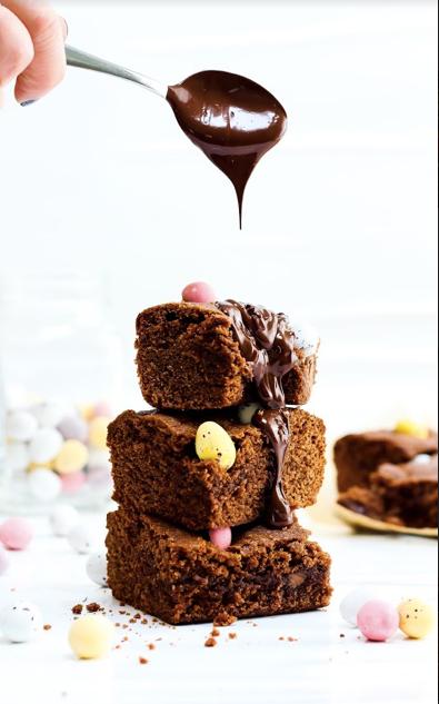 Easter Chocolate Concrete Cake