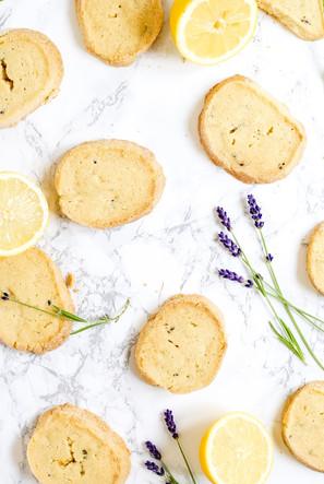 Lemon and Lavender Shortbread