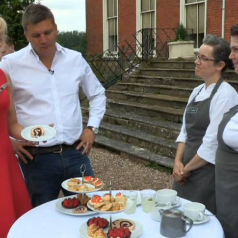 On set for Britian's Best Bakery ITV