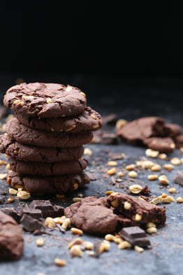 Chocolate Chip Cookies with Sea Salt and Honey Roasted Hazelnuts