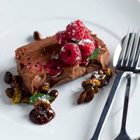Choclate and Raspberry Parfait
