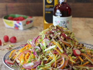 Summer Slaw with Raspberries and Pistachio