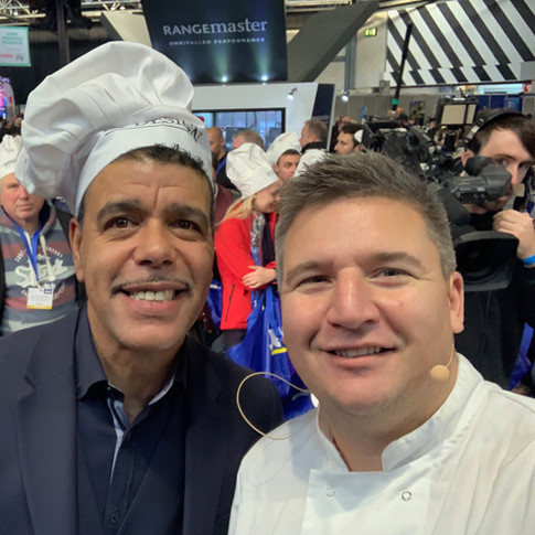 Cooking with Chris Kamara at the NEC