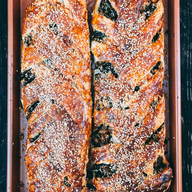 Feta, Spinach and Quinoa Struddel