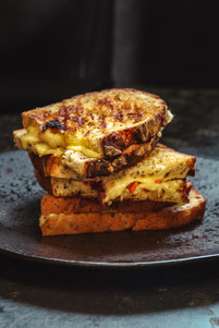 Cheese and Pickled Shallot Toastie